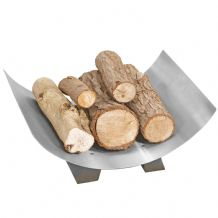 Crescent Log Tray - Pewter